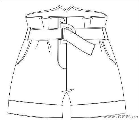 短裤作品-短裤款式图