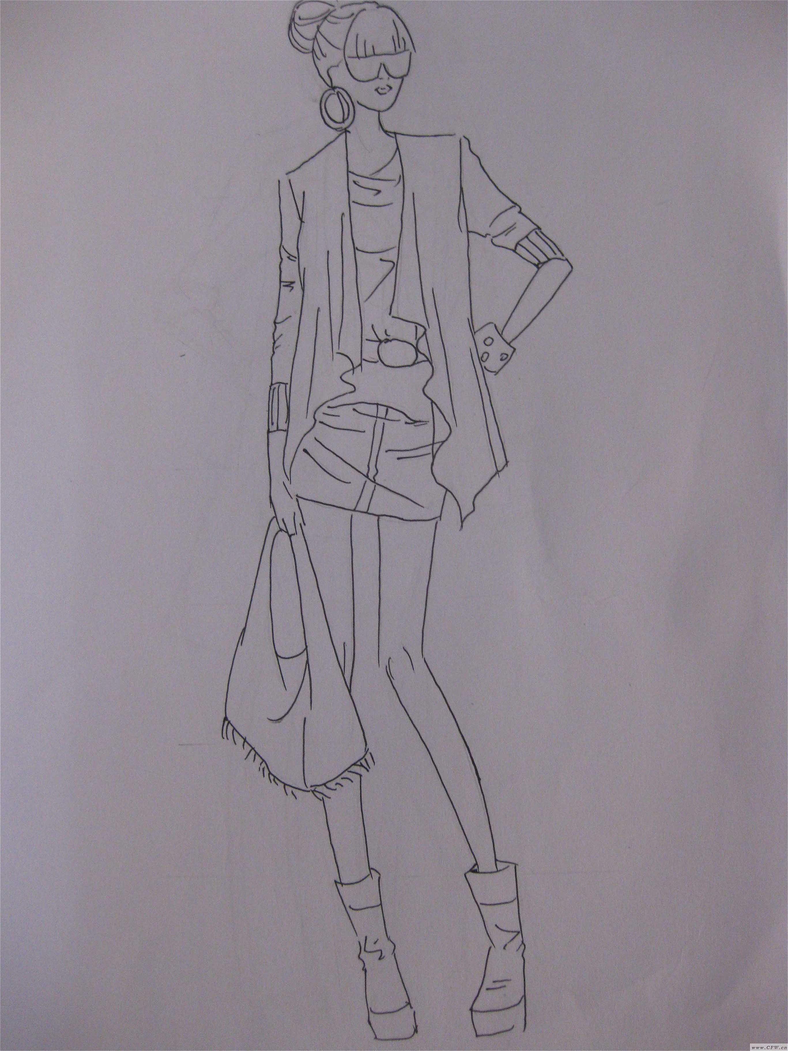 手绘稿2-女装设计-服装设计