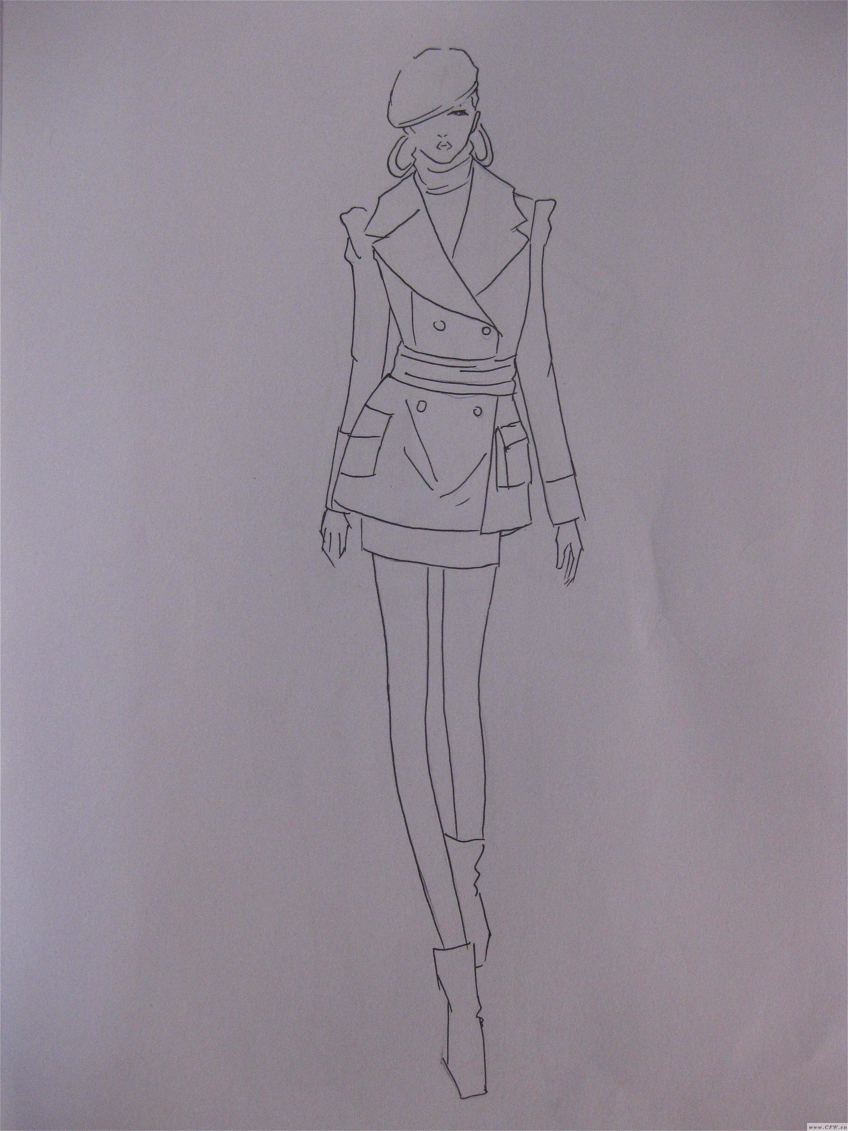 手绘稿4-女装设计-服装设计