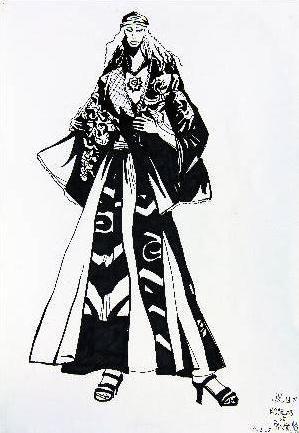 黑白时装画