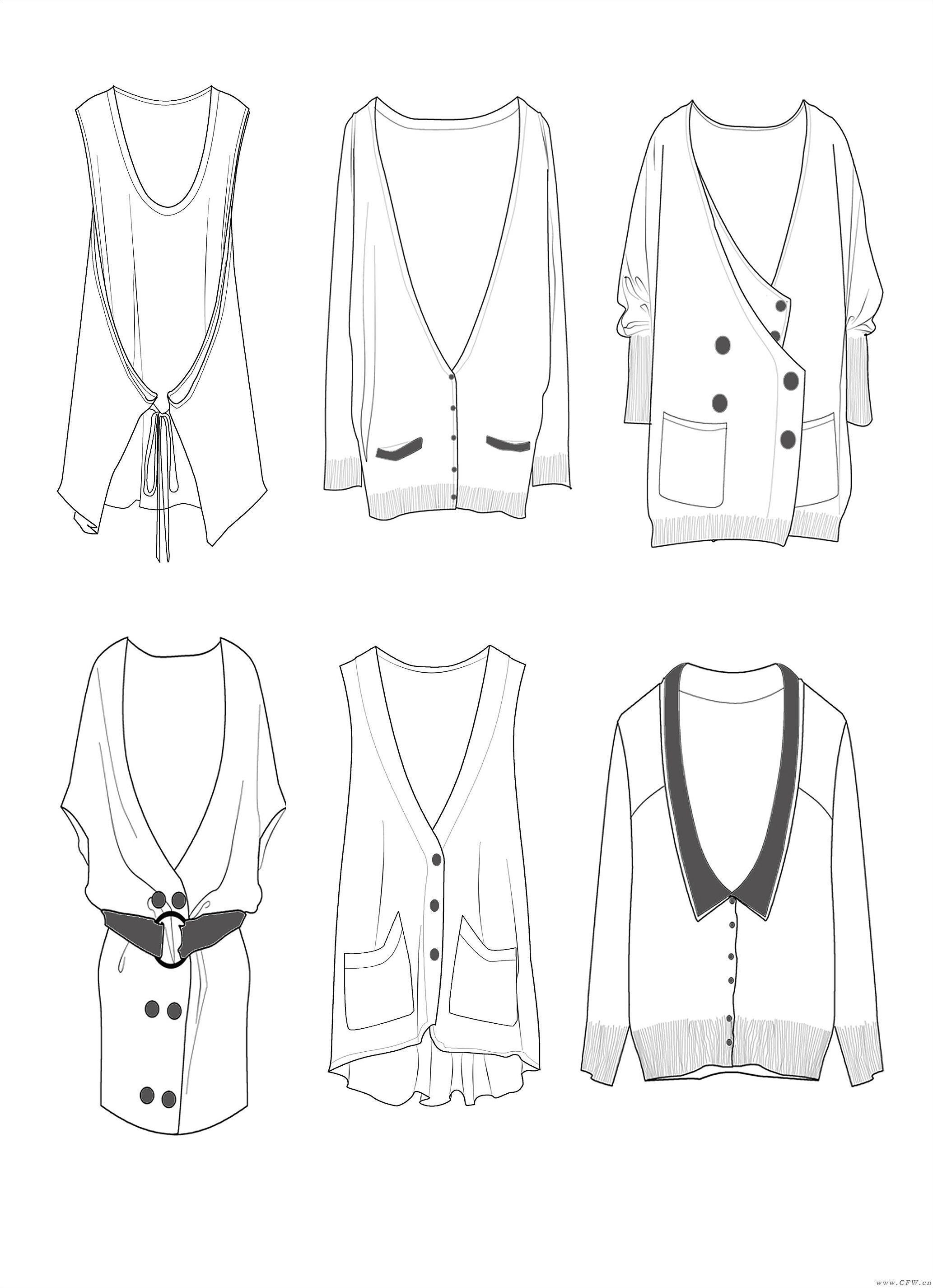 電腦衣服款式圖-毛衫針織設計-服裝設計