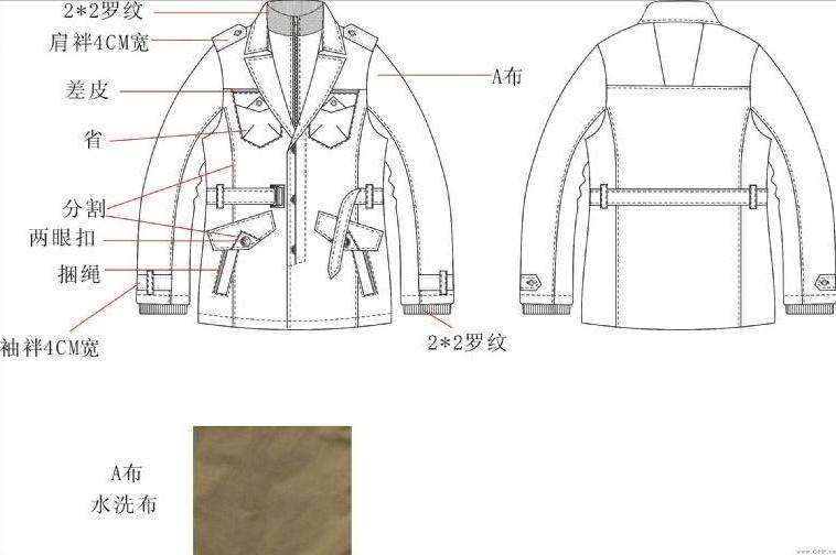 夹克款式图工艺-男装设计-服装设计图片