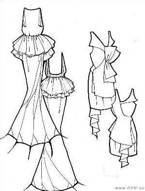 手绘衣服款式图