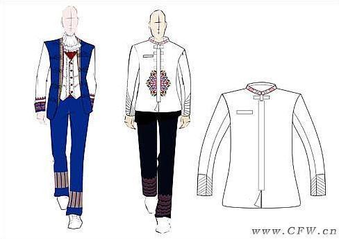 民族服飾工裝-職業服裝設計-服裝設計