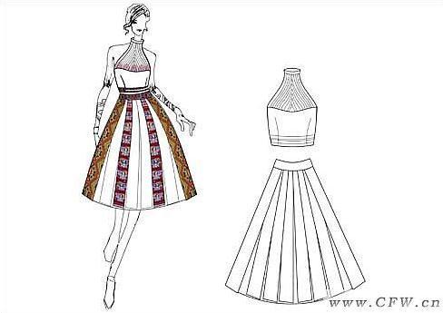 民族服饰-女装设计-服装设计