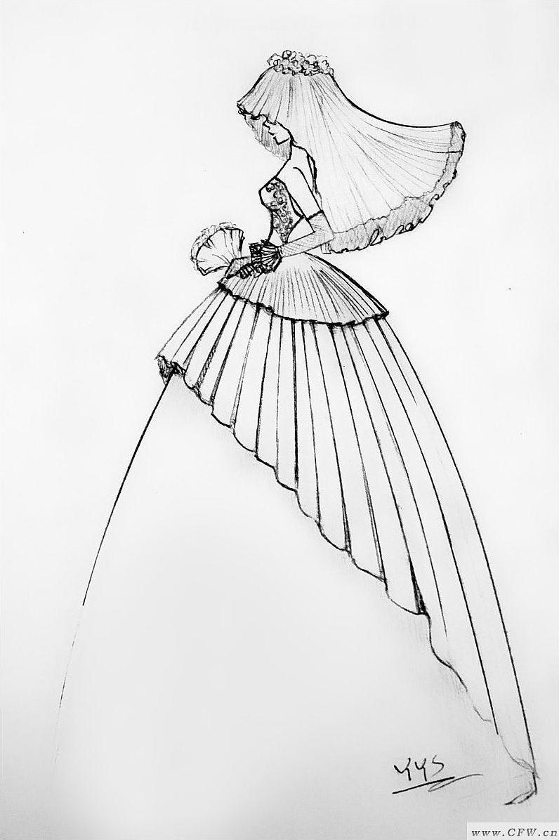 海洋系列婚纱-01-婚纱礼服设计-服装设计