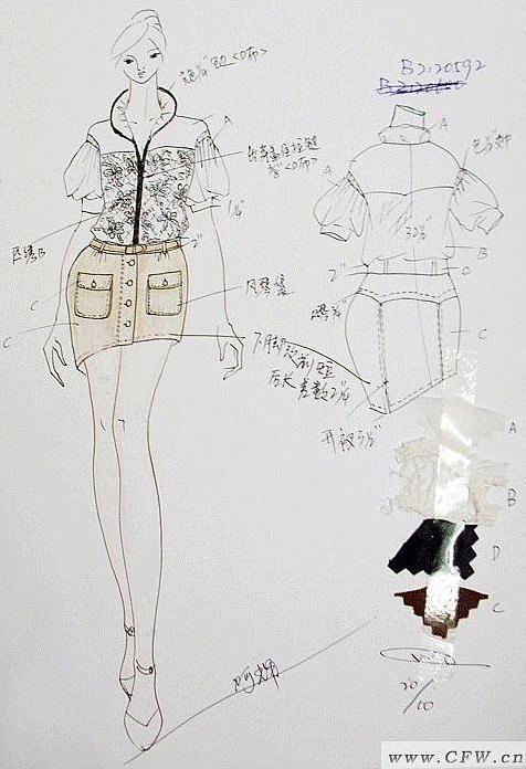 时尚女装衣服款式图