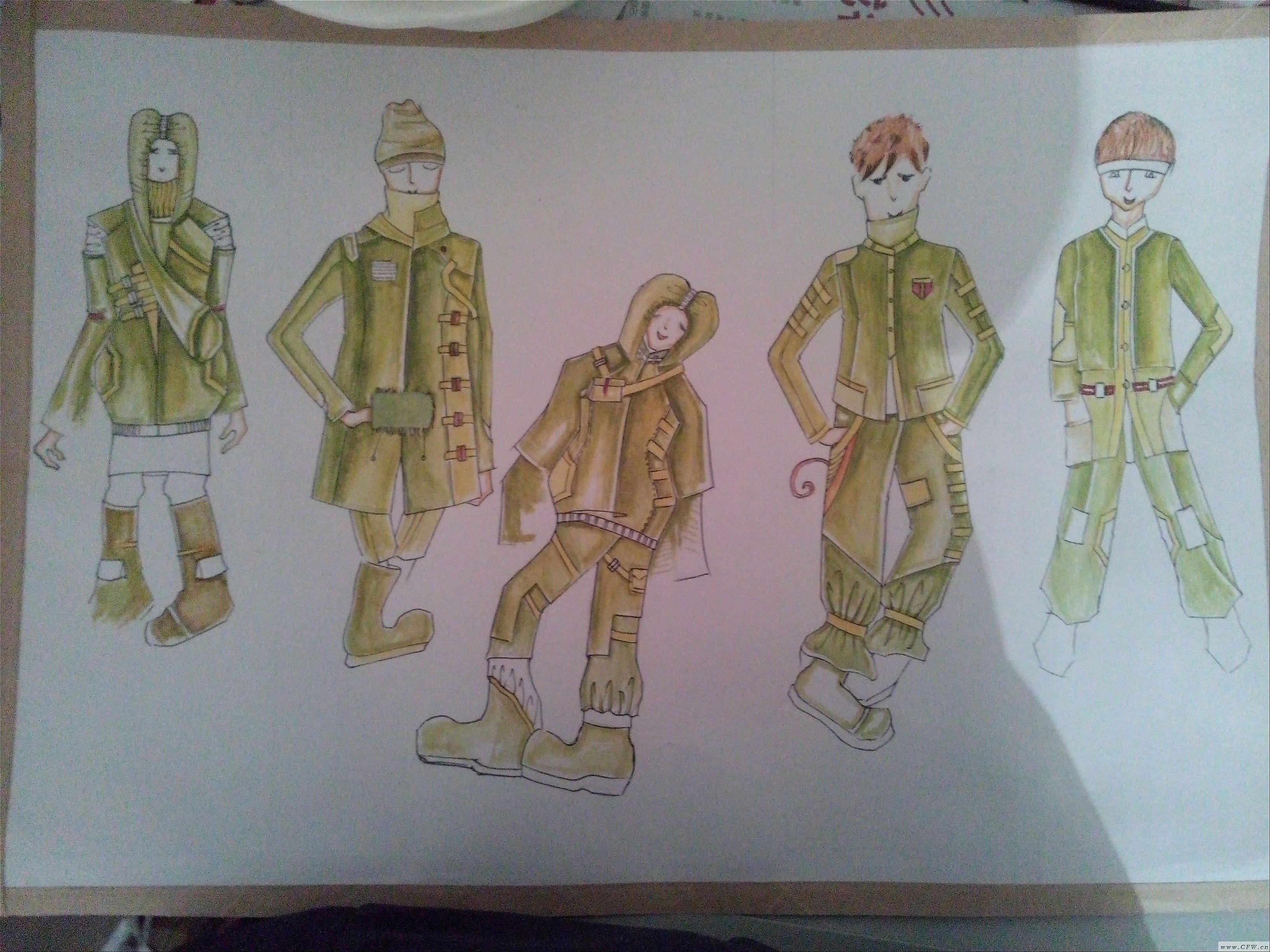 服装效果图-童装设计-服装设计