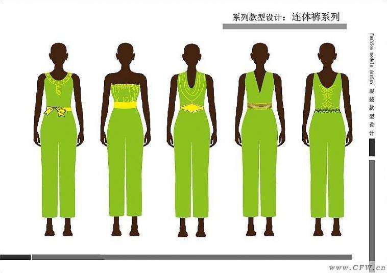 服装廓形手绘矢量图片