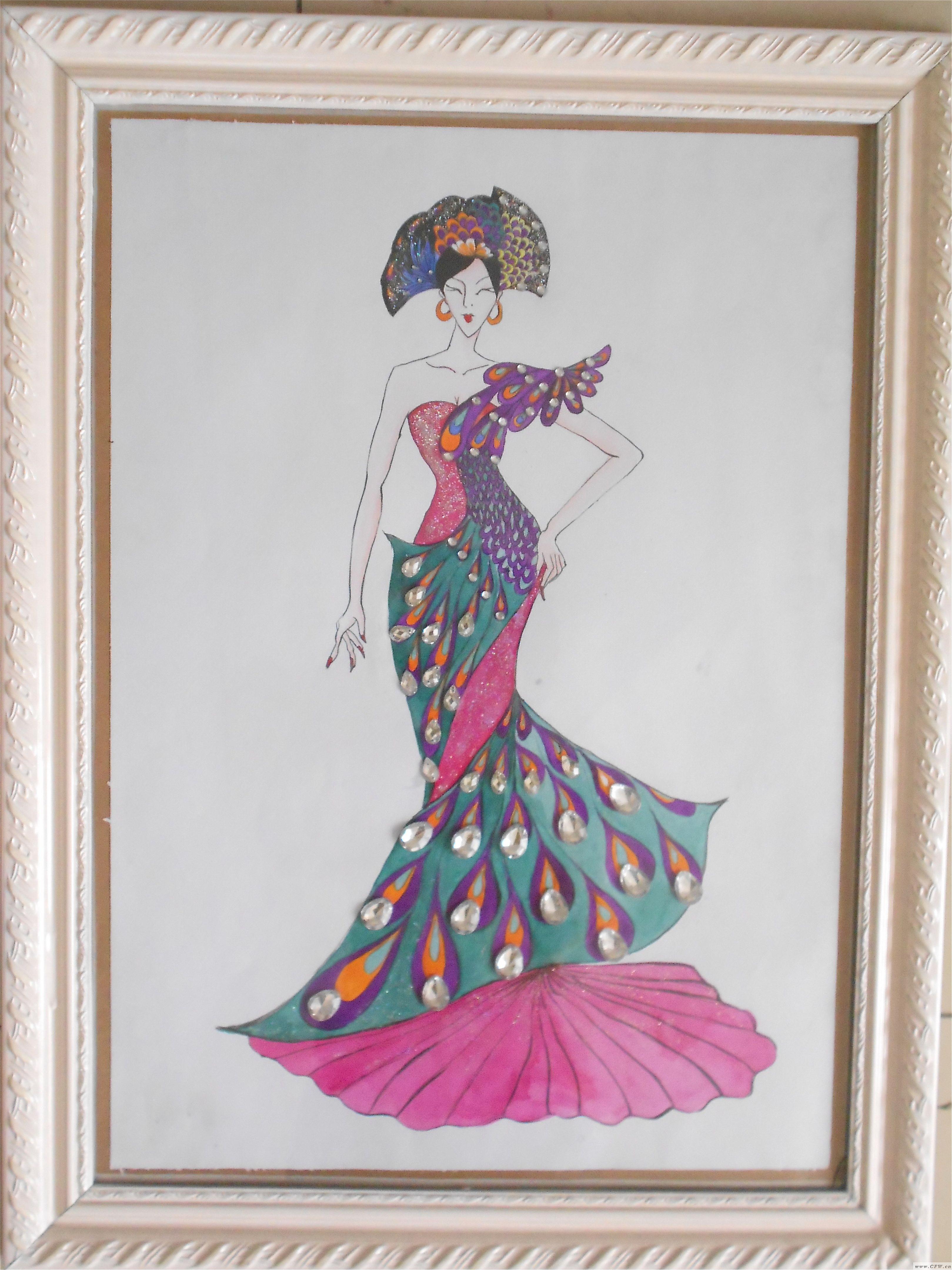 孔雀泪-婚纱礼服设计-服装设计