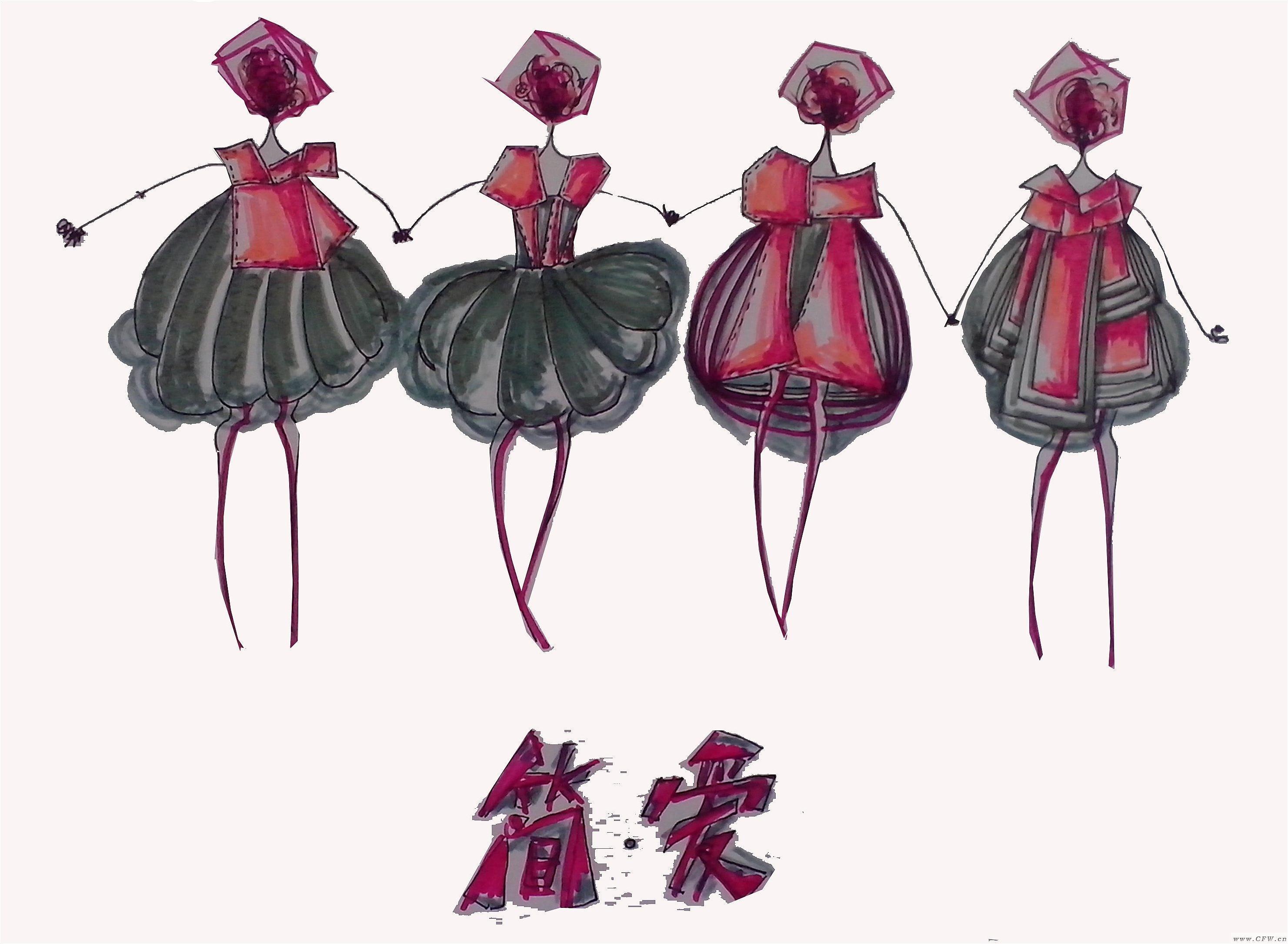 针织创意设计-毛衫针织设计-服装设计
