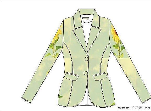 休闲西服-女装设计-服装设计