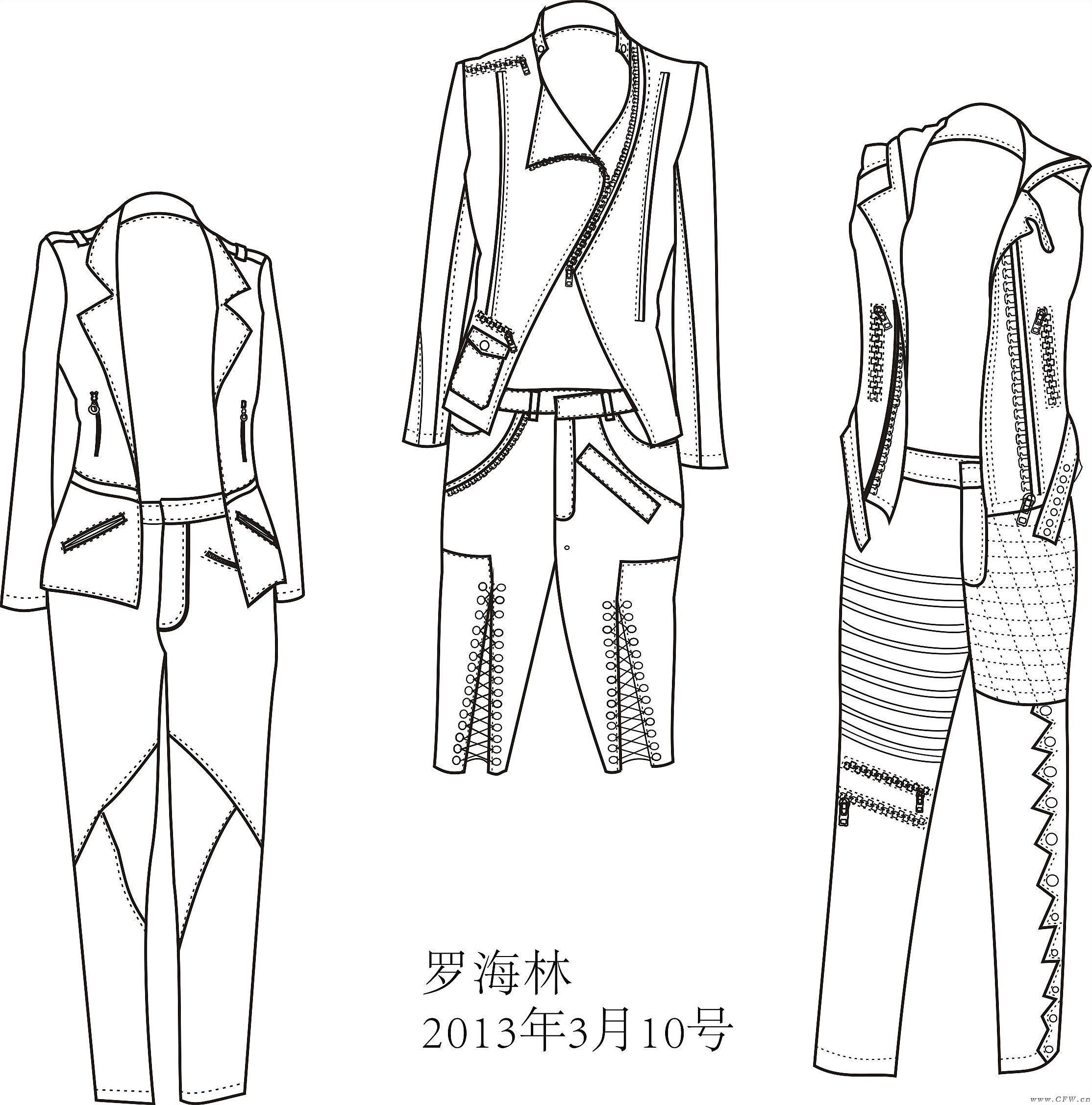 衣服款式圖-女裝設計-服裝設計