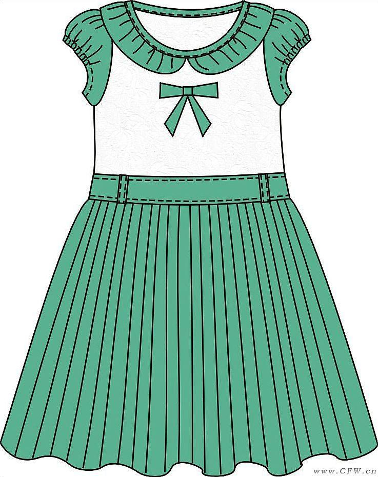 女童(班服设计校服设计图)-童装设计-服装设计