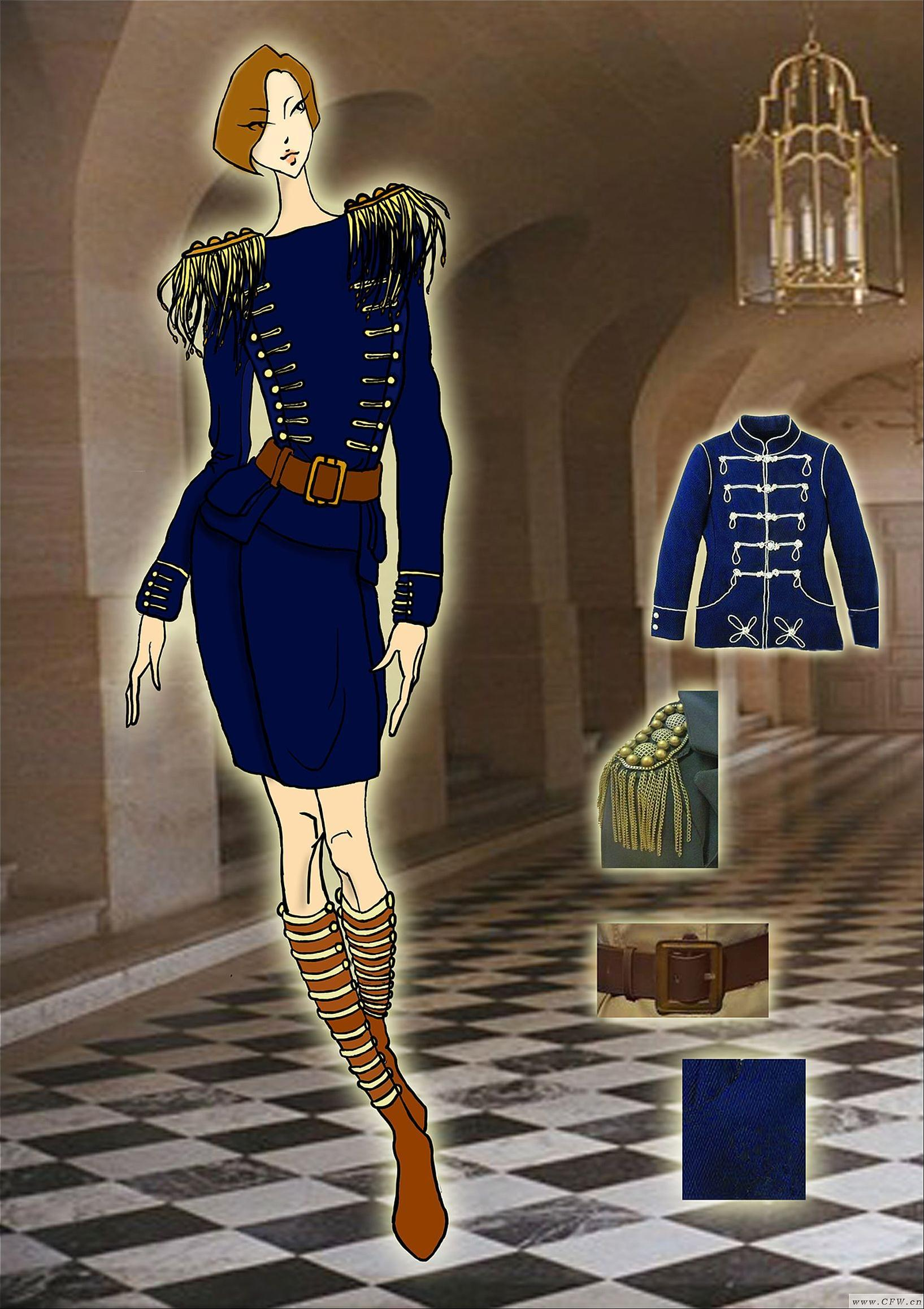 女装设计 职场套装系列-女装设计-服装设计