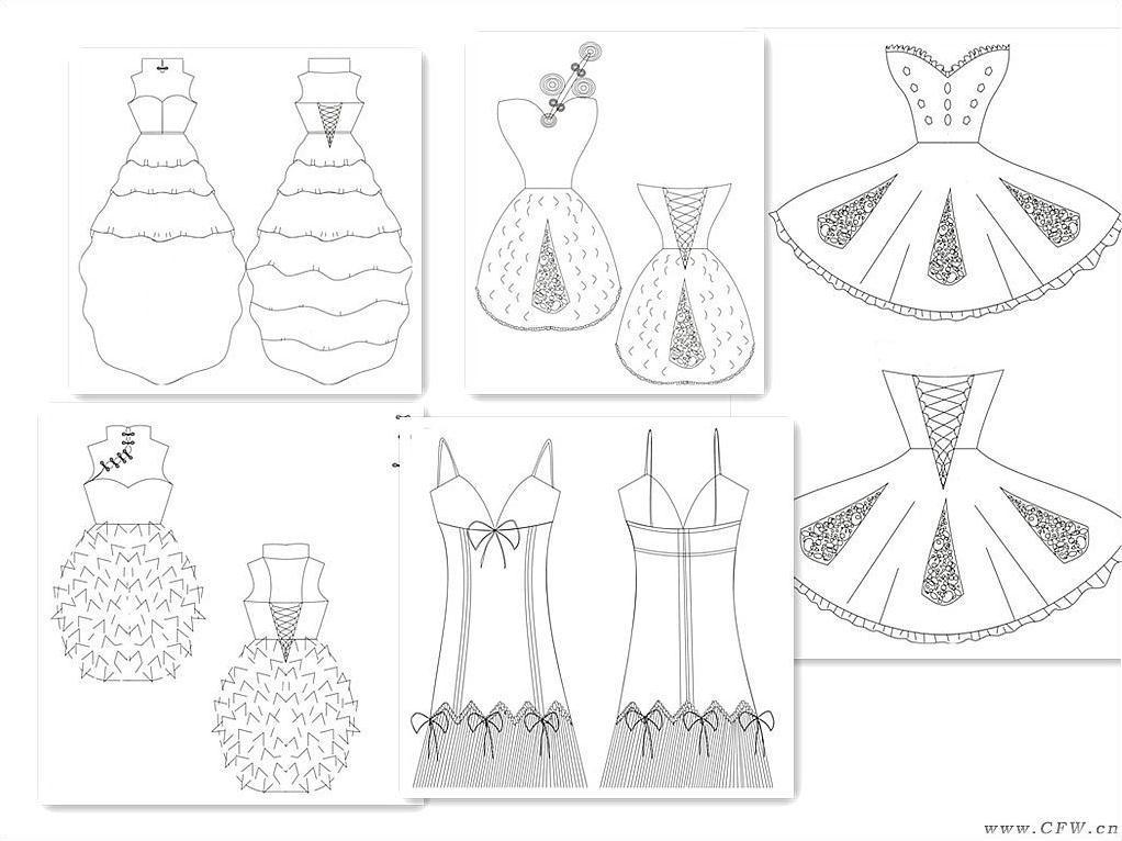 毕业设计婚纱款式图-婚纱礼服设计-服装设计