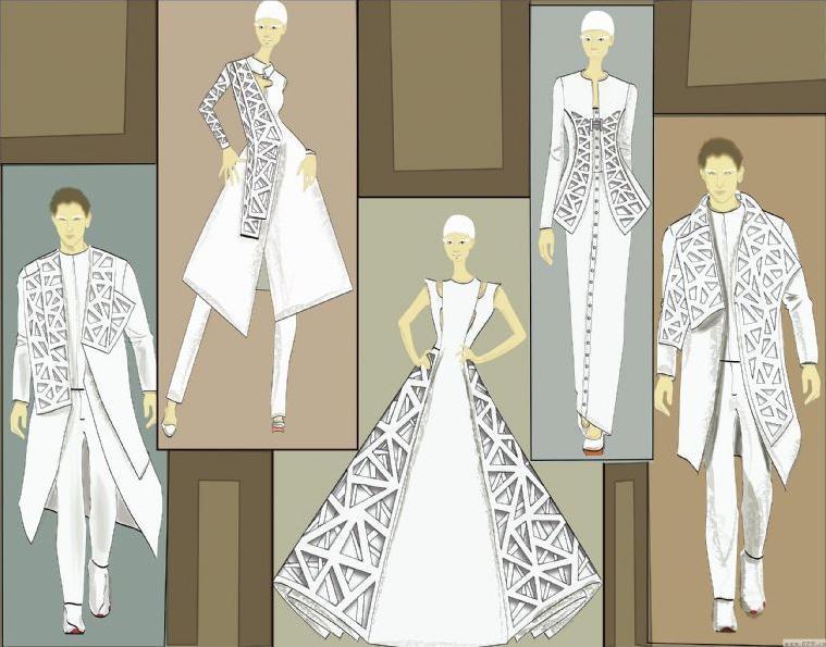 寒窗映雪-女装设计-服装设计
