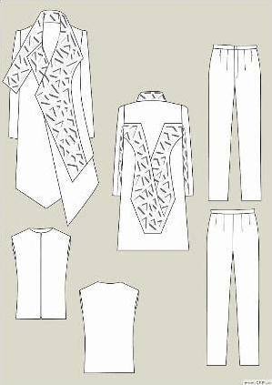 最美夏季校服设计图展示图片