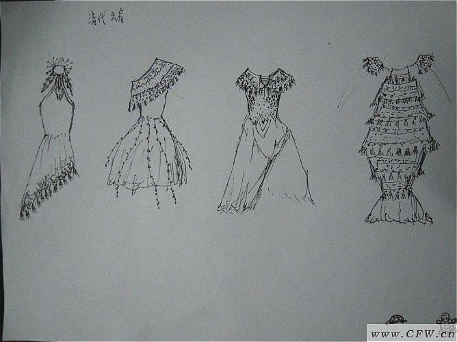清朝服饰手绘图