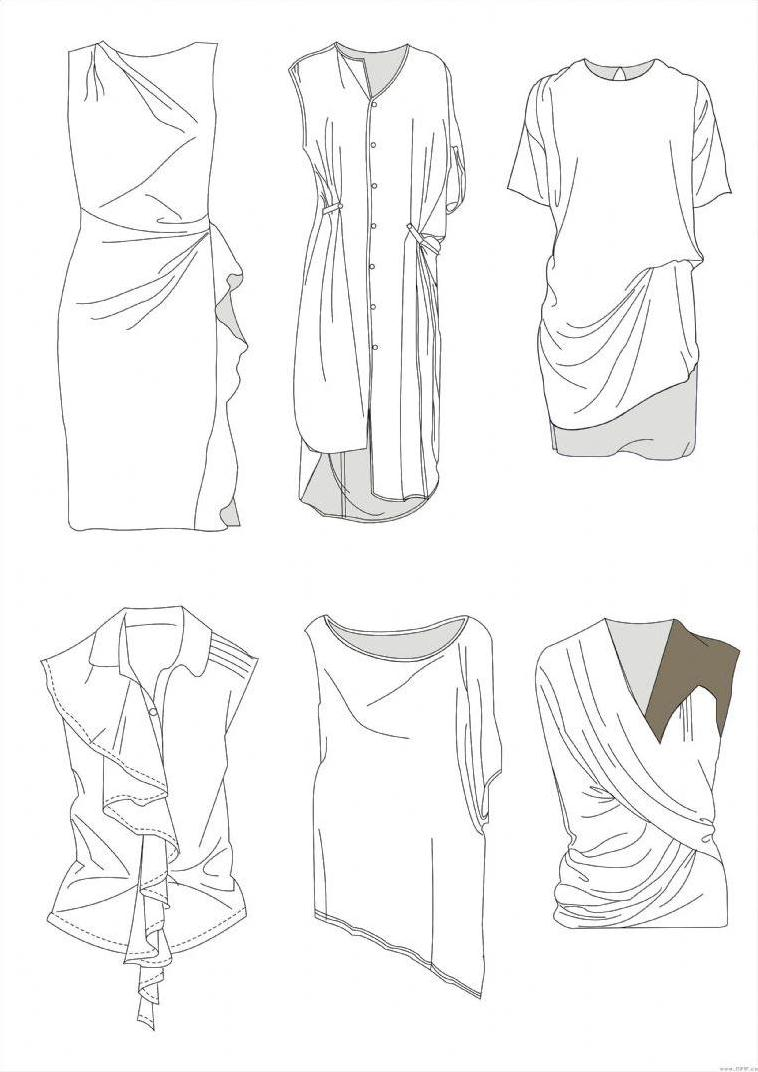 coreldraw衣服款式图