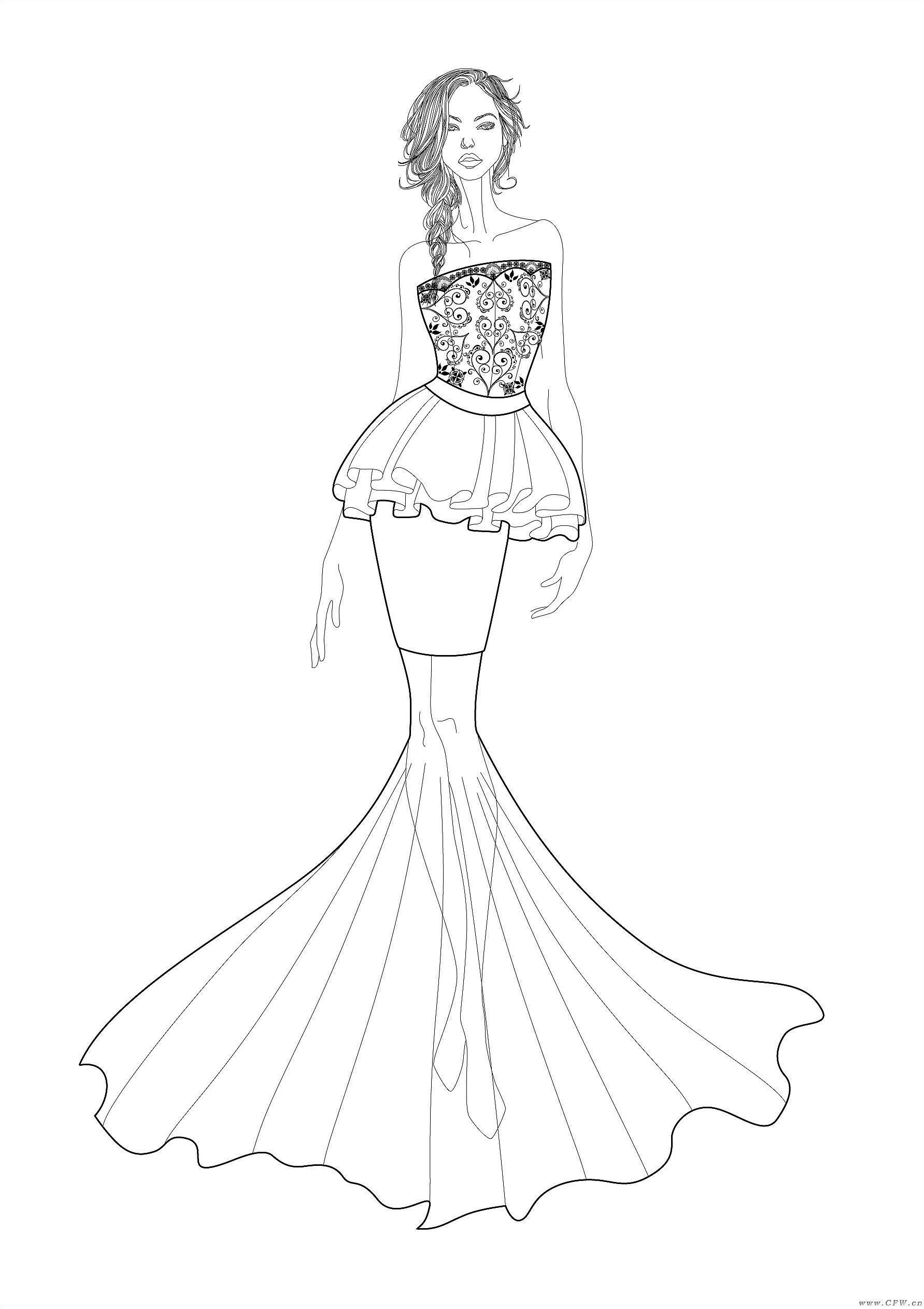 婚纱设计稿-婚纱礼服设计-服装设计