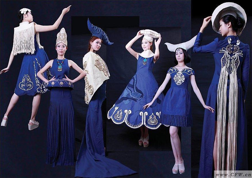 以敦煌艺术为灵感来源的女装设计-女装设计-服装设计