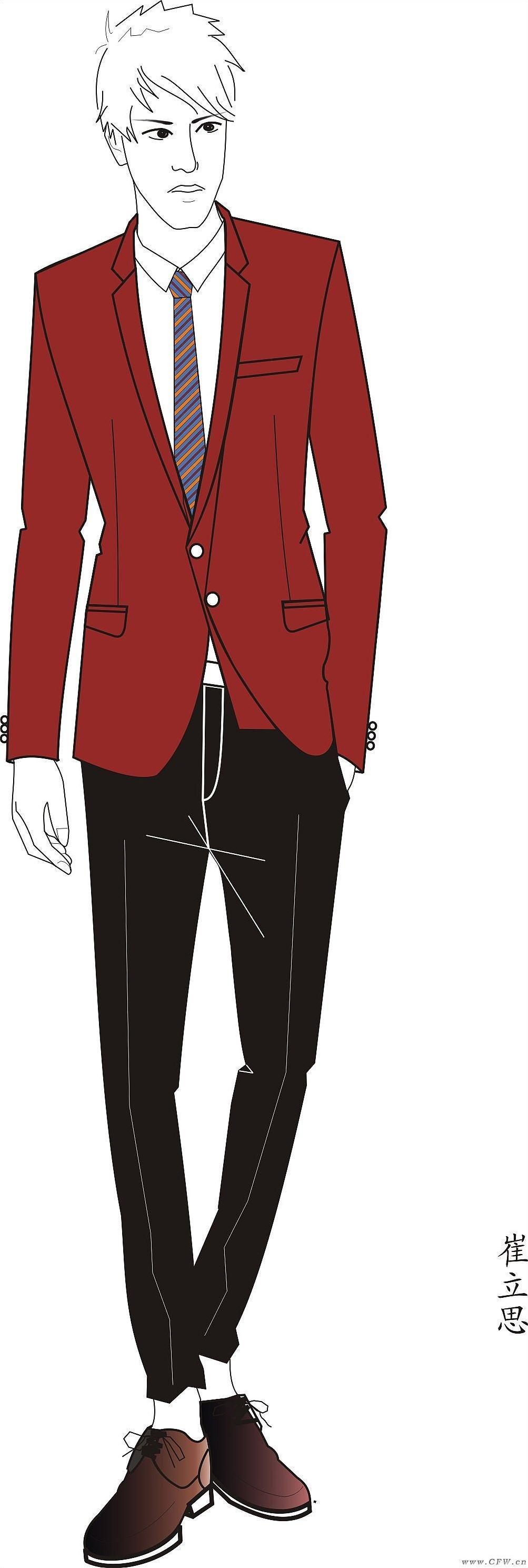 男西装班服设计-职业服装设计-服装设计