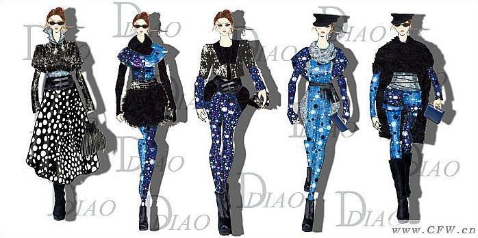 时装-星空-女装设计-服装设计