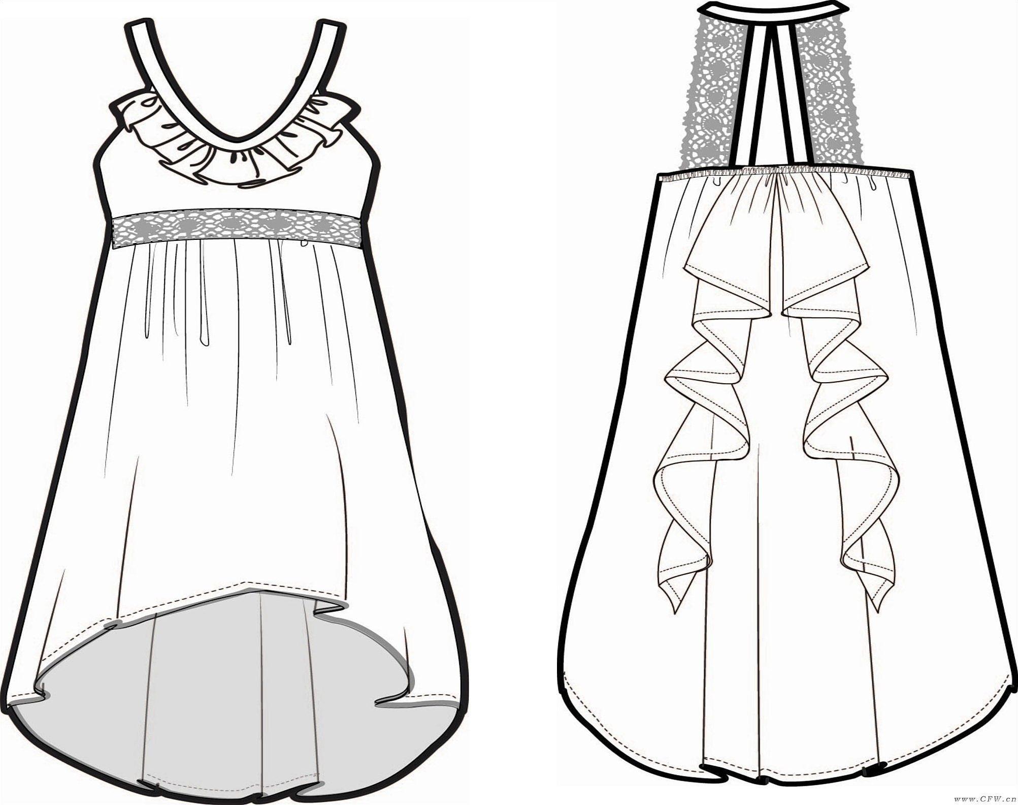 漫画线稿素材衣服
