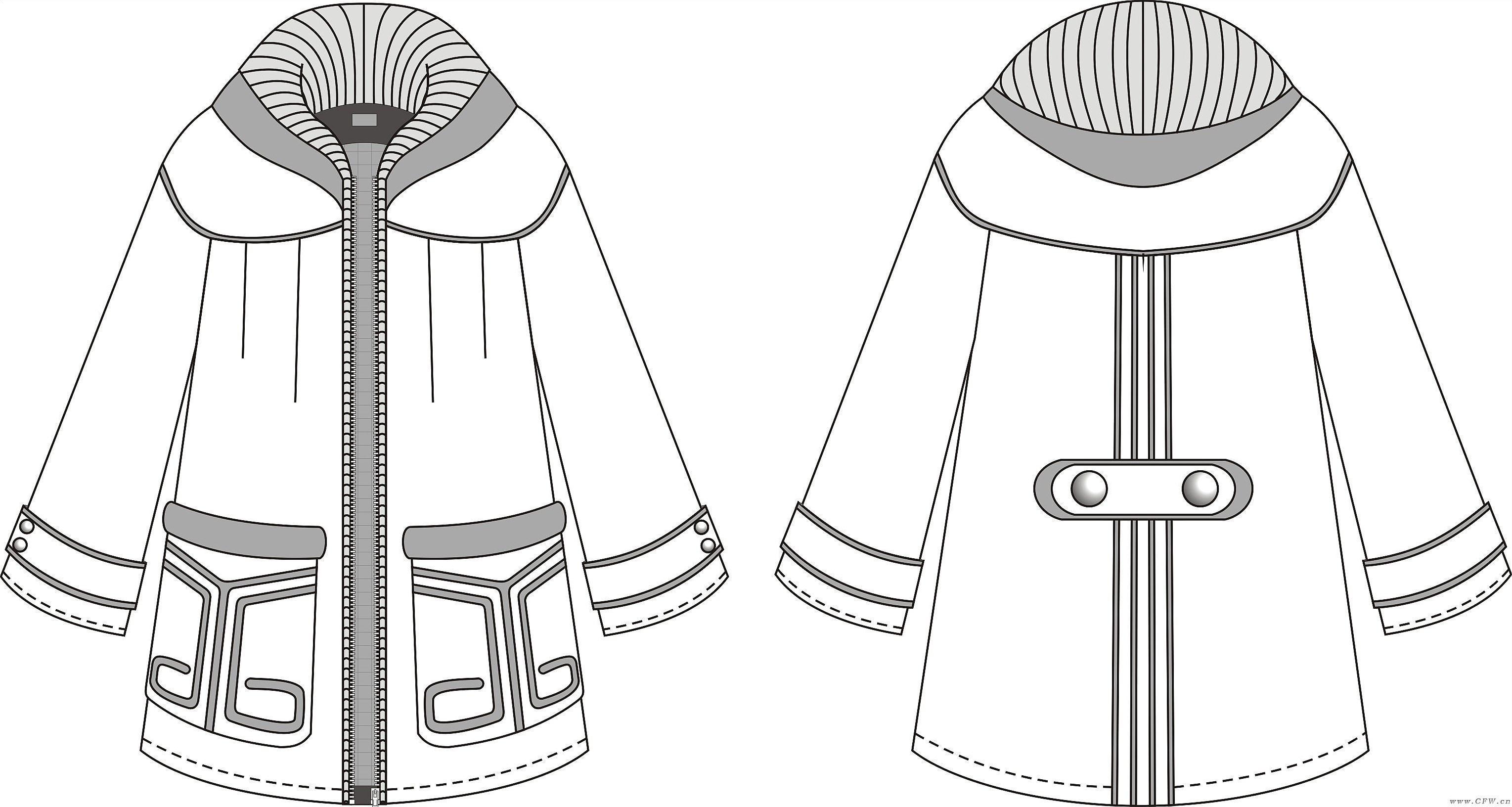 鼠绘衣服款式图