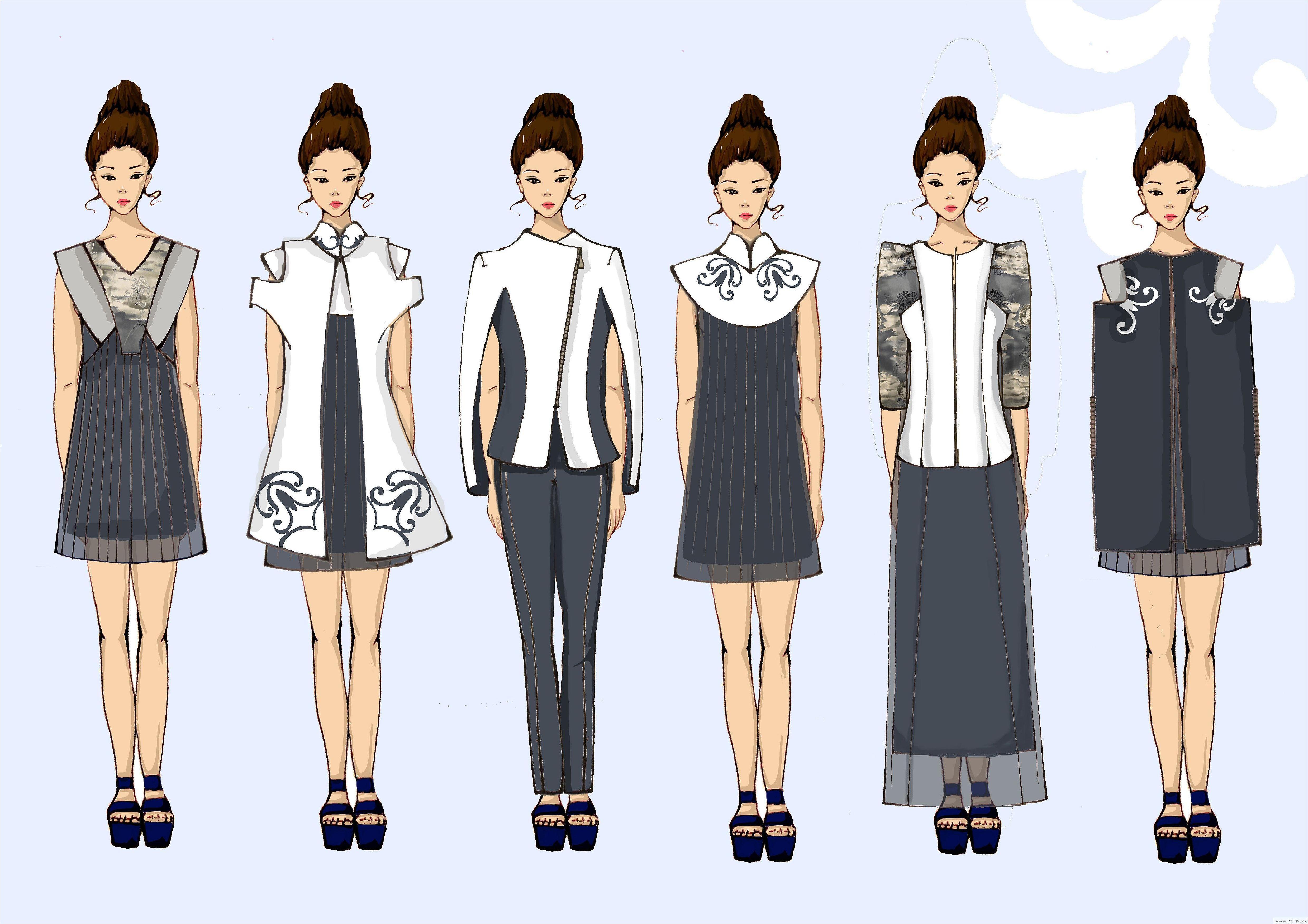 青花颂-女装设计-服装设计