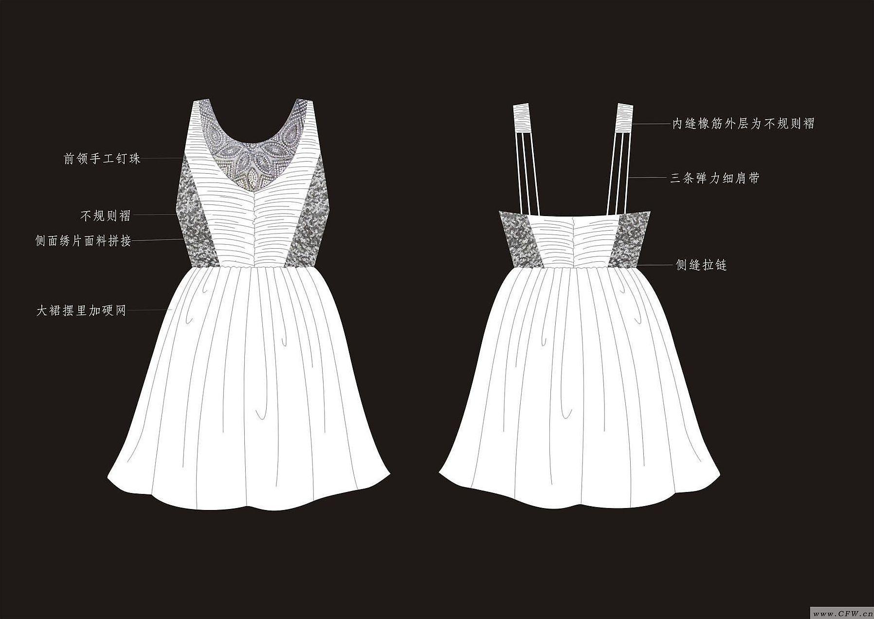 衣服款式图5-女装设计-服装设计