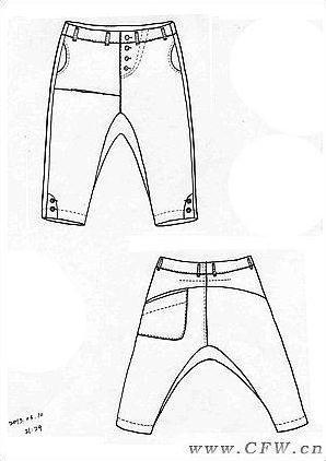 手绘衣服款式图-女装设计-服装设计-服装设计网手机版