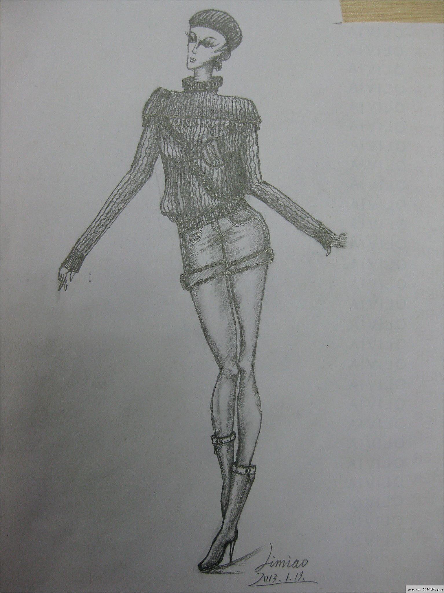 设计手稿3-女装设计-服装设计