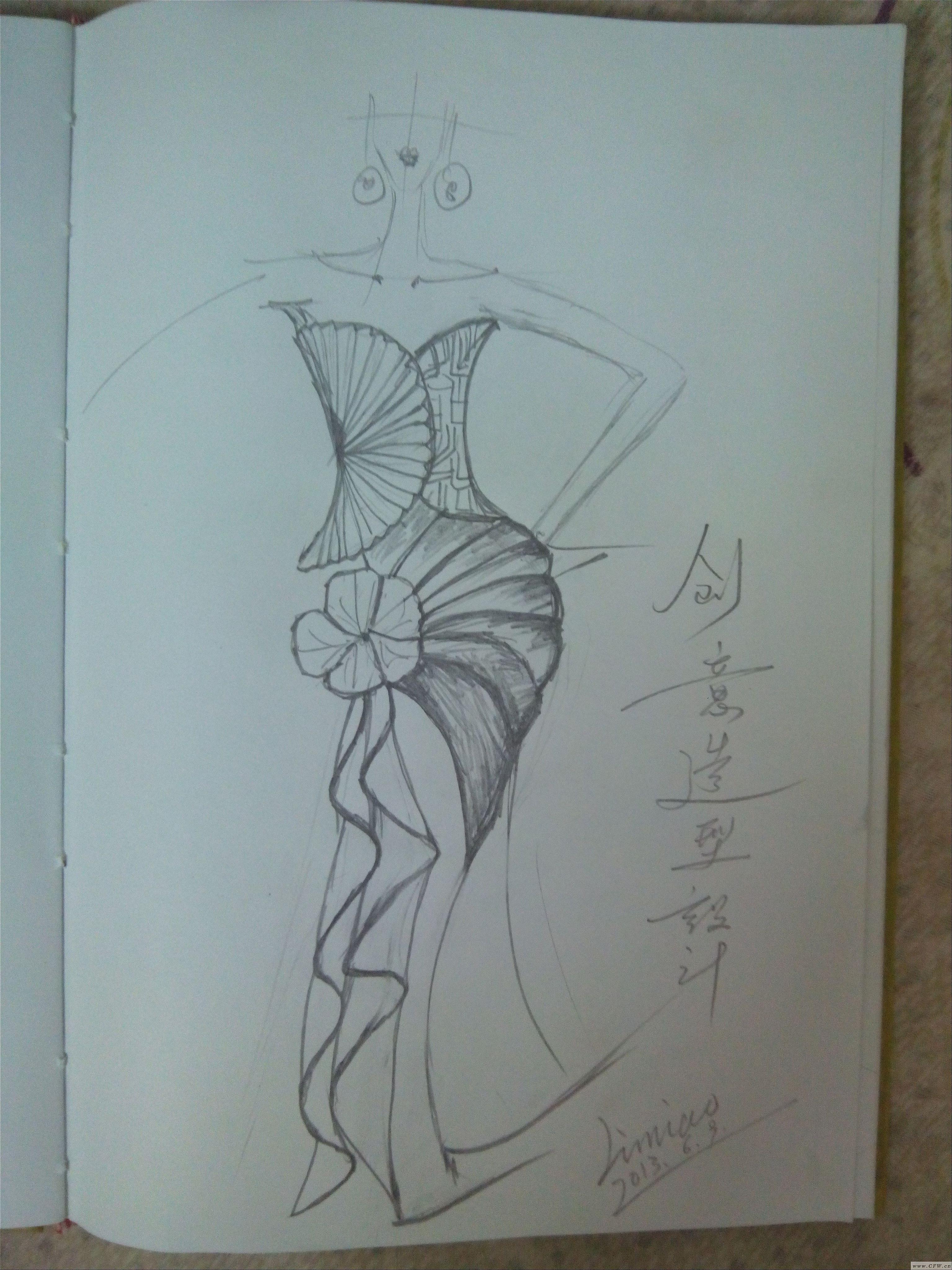 无色手稿-婚纱礼服设计-服装设计