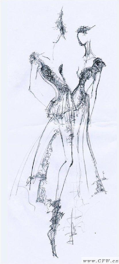 服装画手绘技法 简单