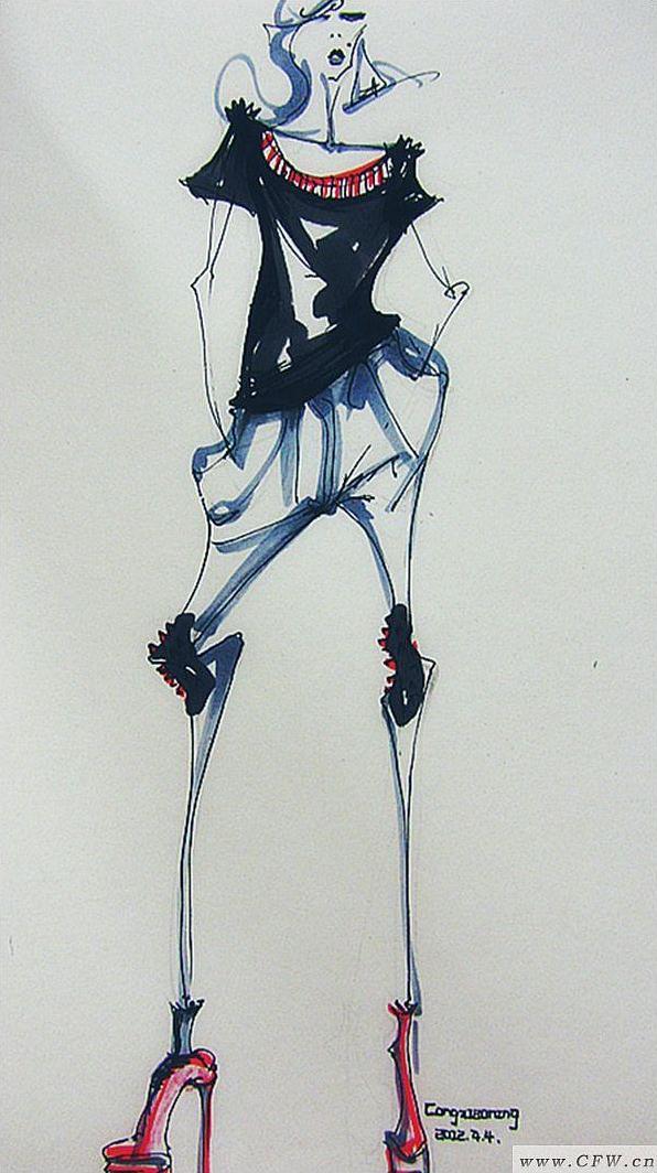 速写-女装设计-服装设计
