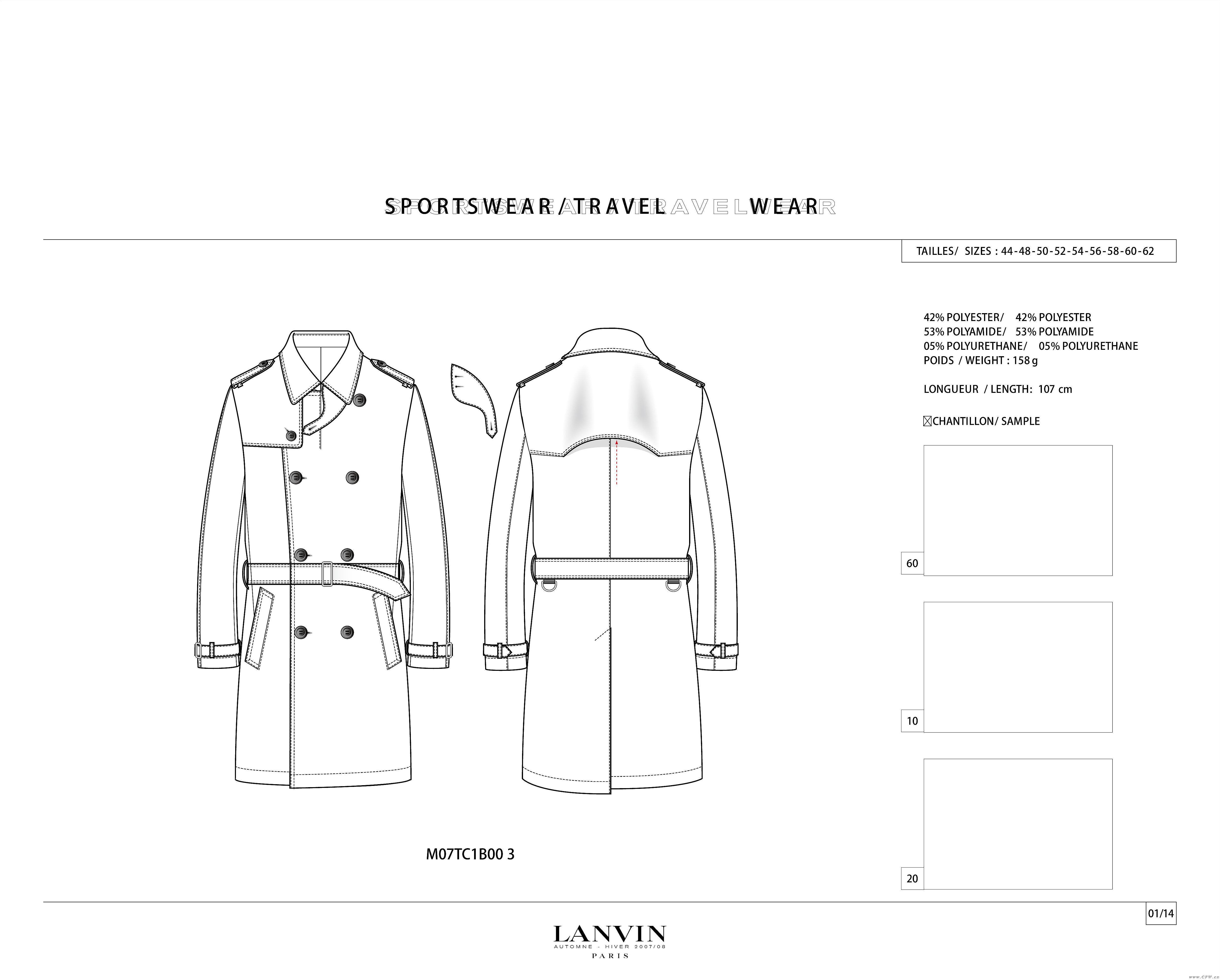 男装大衣风衣款式图-男装设计-服装设计图片