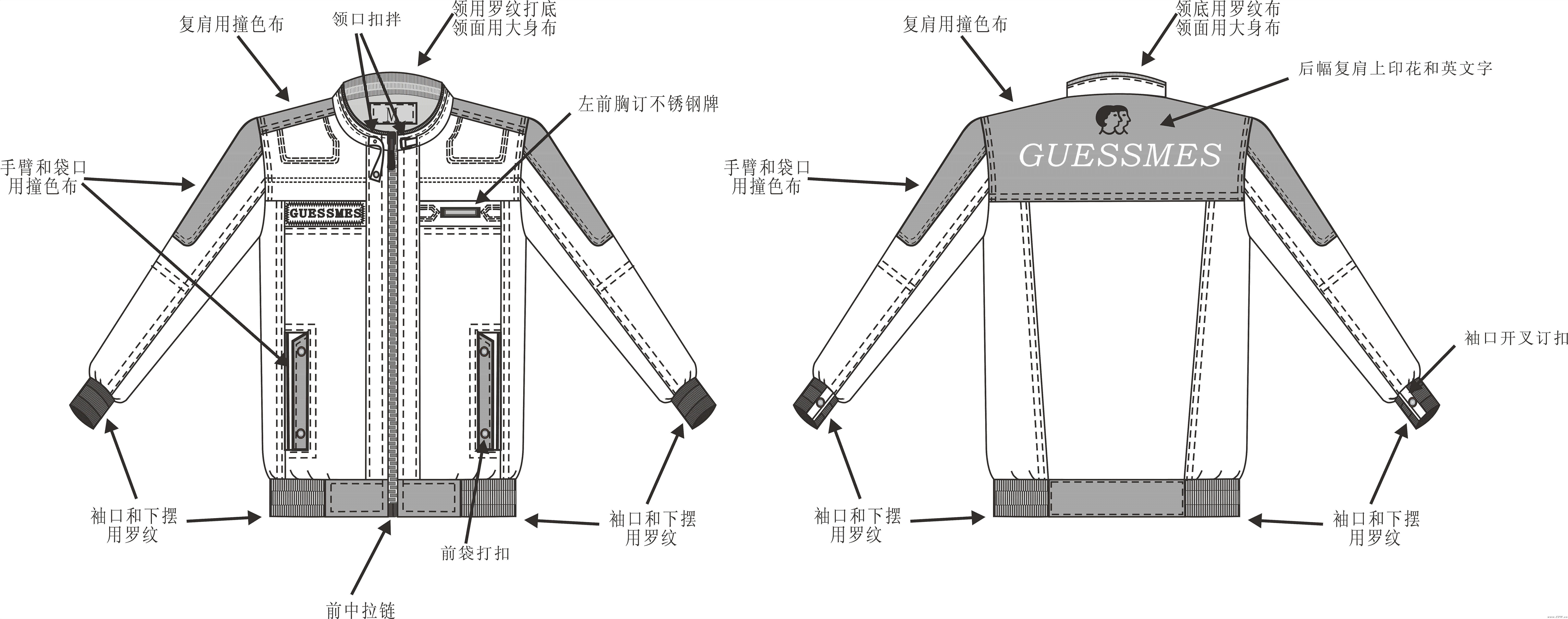 男装夹克休闲外套-男装设计-服装设计