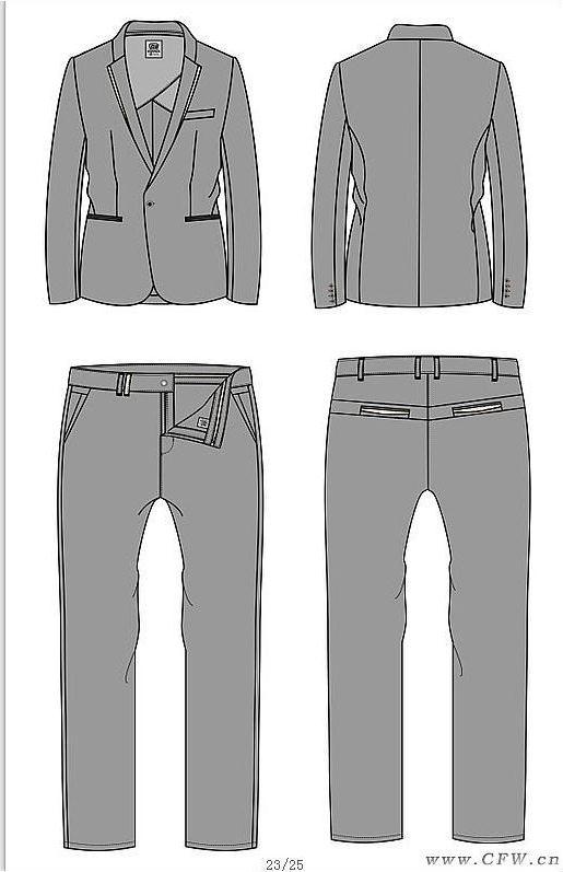 男西装-职业服装设计-服装设计