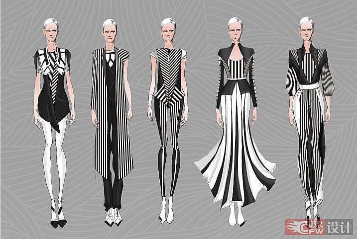 手绘-大赛作品设计-服装设计