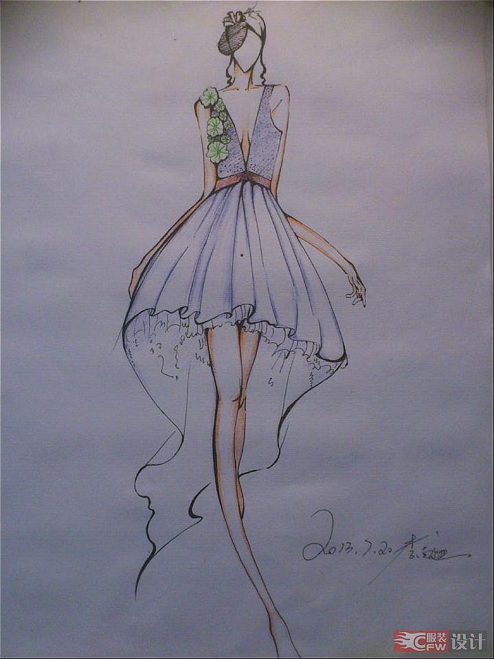 女装手绘1-婚纱礼服设计-服装设计