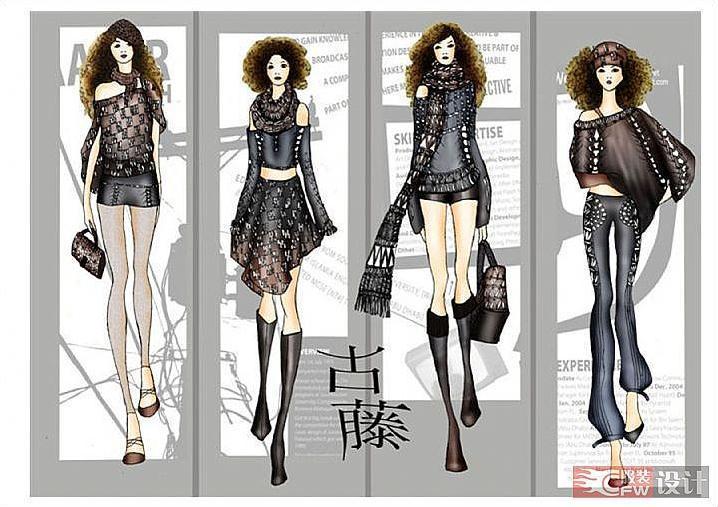 针织系列-女装设计-服装设计