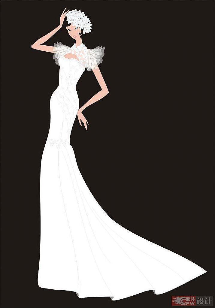 cdr效果图-婚纱礼服设计-服装设计