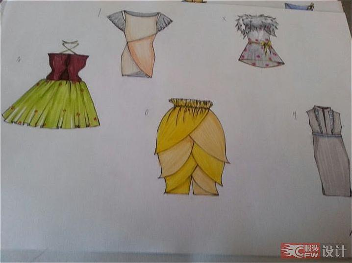 廓形-女装设计-服装设计