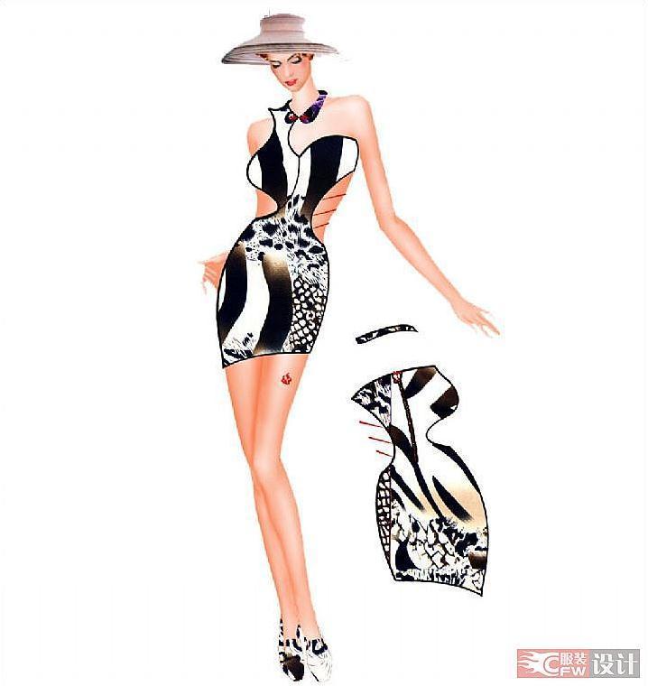 服装系列3 背面款式图-女装设计-服装设计