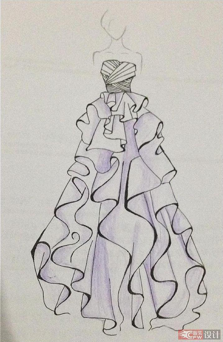 柔美laveder-婚纱礼服设计-服装设计