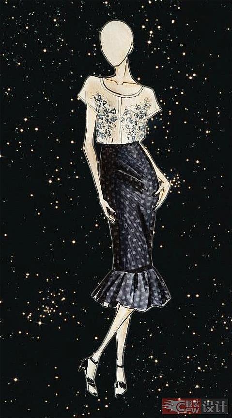 星空裙子-女装设计-服装设计图片