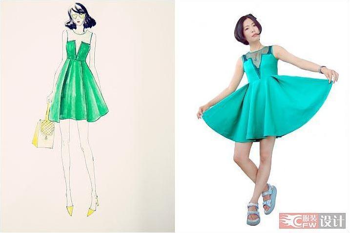 连衣裙子-女装设计-服装设计