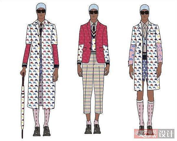 时装电脑稿-男装设计-服装设计